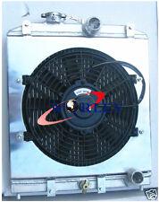 52MM ALUMINUM RADIATOR & SHROUD & FAN FOR HONDA CIVIC EK EG D15 D16 28MM PIPE
