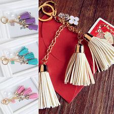 Tassel Alloy PU Charm Style Purse Handbag Car Key Chain Key .Ring Holder  Dyjh