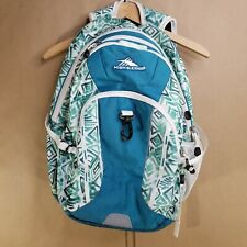High Sierra Aztec Padded Everyday Laptop Backpack Bag Turquoise White 18L×15W