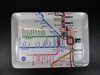 Chicago Melamina Servir Tablet Bandeja, 38CM, U Metro Subway Red, Nuevo