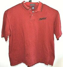 D.A.R.E. Polo  Shirt Mens Size 3XL  Red VTG D.A.R.E. Shirt Short Sleeve
