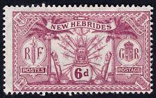 NEW HEBRIDES 1911 Native Idols 6d MH @P806
