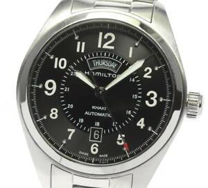 HAMILTON Khaki field H705050 Date black Dial Automatic Men's Watch_605405