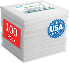 """Foam Wrap Sheets For Shipping Packing 100 Pack 12"""" x 12"""" Cushioning Material"""