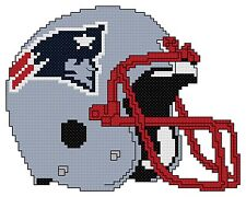 Counted Cross Stitch Pattern, New England Patriots Helmet - Free US Shipping