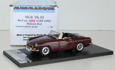 MINIMARQUE 1/43 GRB108B - MGB MKIII 3 - ROOF OPEN - DAMASK RED