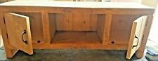 SOLID WOOD RUSTIC CHUNKY PLANK  STYLE TV UNIT ENTERTAINMENT STAND WITH DOORS
