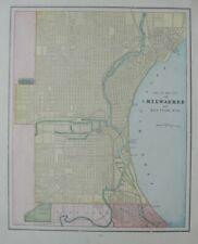 Original 1893 Map MILWAUKEE BAY VIEW Wisconsin Streetcar Lines Mitchell Heights
