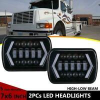 "7x6"" INCH LED Sealed Headlights For International Harvester 4700 4800 4900 8100"