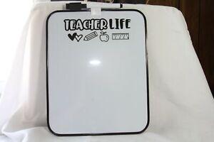 Teacher Crate (new) TEACHER LIFE - WHITE BOARD W/ PEN & MAGNETS ON BACK
