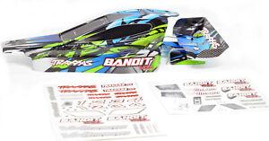 Bandit VXL BODY shell & Wing (Blue & Green) painted Shell Traxxas XL-5 24076-3
