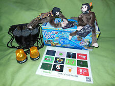 Woot Bag of Crap Screaming Flame Monkey Lights 2011 Calendar Aqua Globes & Purse
