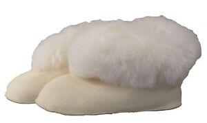 Echt Lammfell superwarme Bequemschuhe für Innenbereich