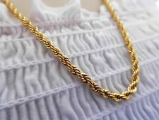 2 pcs Gold Plated 3mm Rope Chain 24 inch Necklace Jewellery Crystal Bling Lady