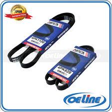 EPDM Fit TOYOTA Tercel 95-96 A/C-ALT-PS 2 PC Serpentine Drive Belt Set