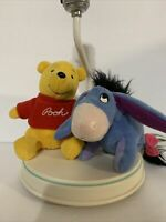 Vintage 80s Disney Winnie The pooh And Eeyor desk Table Lamp