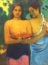 PAUL GAUGUIN TWO TAHITIAN WOMEN OLD MASTER PAINTING PRINT POSTER 2205OMLV