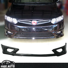 Black PU HF-P Front Bumper Lip Spoiler Bodykit Fit for 06 07 08 Honda Civic 2dr