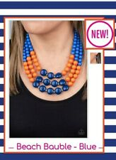 paparazzi jewelry Necklace andearrings set *NEW* Beach Bauble • Blue •