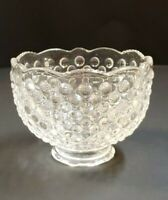 """VINTAGE HOBNAIL CLEAR GLASS SHADE 1 7/8"""" FITTER USED 728J"""