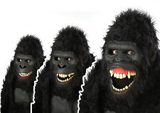 Adult Ape Gorilla Opening Mouth Animotion Costume Mask