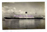 pf1146 - Blue Funnel Cargo Ship - Agamemnon , built 1929 - photograph