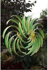 Garden Yard Spinner Wind Outdoor Art Kinetic Energy Sculpture Pinwheel Green New