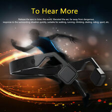 Bluetooth Wireless Bone Conduction Stereo Headset Mic Outdoor Sport Headphone