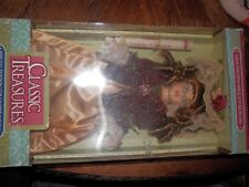 Fine Bisque Porcelain Classic Treasures Collectibles Doll, w/ Display Stand