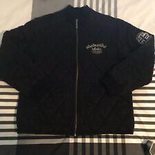 Mens Akademiks Black Quilted Jacket Vintage Hip Hop Thick Heavy Jerome  M L XL 5a54916b4