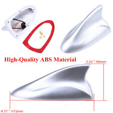 Durable Auto Car Shark Fin Antenne Decoration with FM/AM Connection Cable Silver
