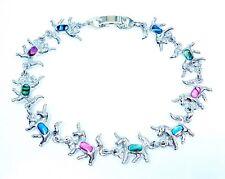 Adorable Unicorn Bracelet Paua Shell Inlay 7 Inch or 18 Cm