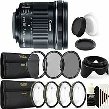 Canon EF-S 10-18mm f/4.5-5.6 IS STM Lens for Canon T7 T7i T4i with Accessories