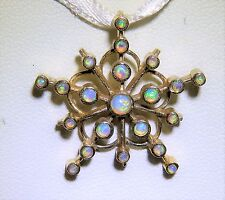 9CT GOLD VICTORIAN STYLE CABOCHON  OPAL  PENDANT
