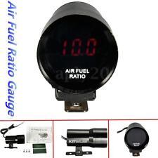 12V 37mm Mini Micro Red LED Air Fuel Ratio Gauge Digital Smoked Len Black US
