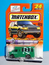 Matchbox 1999 Speedy Delivery Series #24 Chevy Transport Bus National Rental Car