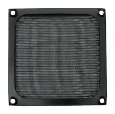 EMI/RFI Fan Filter Assembly, 92mm, Black Aluminium / Stainless Steel - MC32640