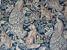 """WILLIAM MORRIS CURTAIN FABRIC  """"Forest Velvet"""" 0.90 METRE CHARCOAL DARP222635"""