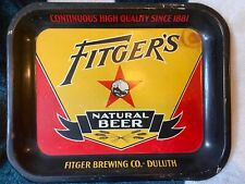 Antique Vintage Fitger's beer tray Fitger Brewing Company Duluth Mn