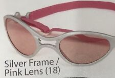 Doggles K9 Optix Rubber Framed Dog Sunglasses Silver Frame/Pink Lens SZ XXS DISC
