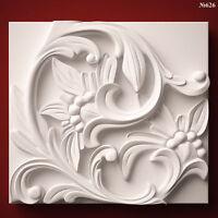 (626) STL Model Wall Panel for CNC Router 3D Printer  Artcam Aspire Cut3d