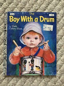 The Boy With a Drum Little Golden Book 1969 Children's Book 10th  Printing 1982