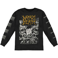 Napalm Death From Enslavement to Obliteration Long Sleeve Tee Shirt Death Metal