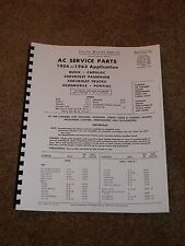 AC Service Parts Catalog 1954-1963 for Speedometers,Gauges,Tachometers,Part #s..