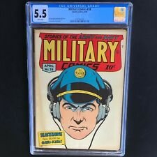MILITARY COMICS #38 (Quality 1945) 💥 CGC 5.5 White Pgs 💥 Rare Golden Age War