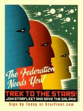 Star Trek Postcards - Starfleet Federation, The Borg, Klingon Empire