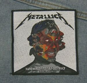 Metallica Hardwired to sew  on patch retro Official merchandise metal music