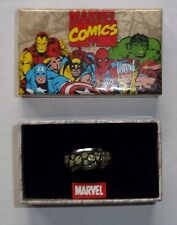 Size 12 Marvel Punisher Stainless Steel & Enamel Ring - NOS