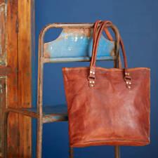 Women's Brown Bag Leather Shopping Briefcase Handbag Shoulder Messenger Bag