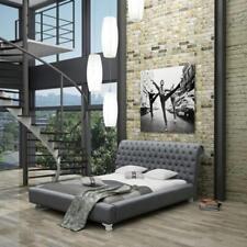 Bett Betten Doppelbett Schlafzimmer Leder Polster Textil Doppelbetten Neu